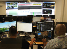 At work in the global command center