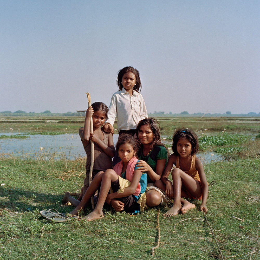 Girls of the Doom caste, traditionally known as the pig rearing caste,