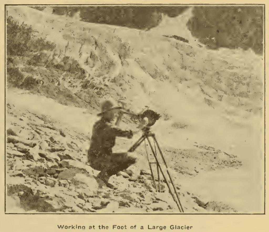 Cowling at glacier