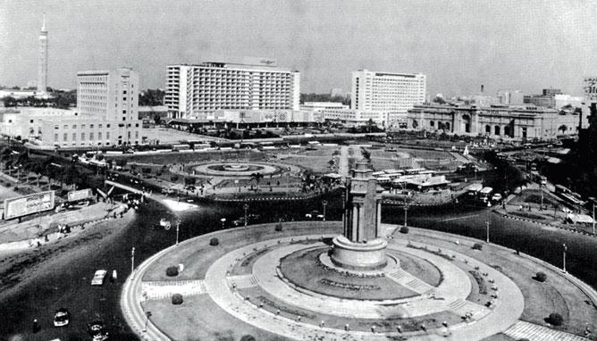 Tahrir Square 1962. Photo: Weghat Nazar magazine.