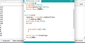 screenshot of Arduino and Serial monitor